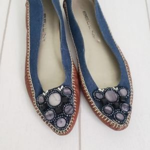 🌈 Bellini Embellished Pointed Toe Moccasin 7